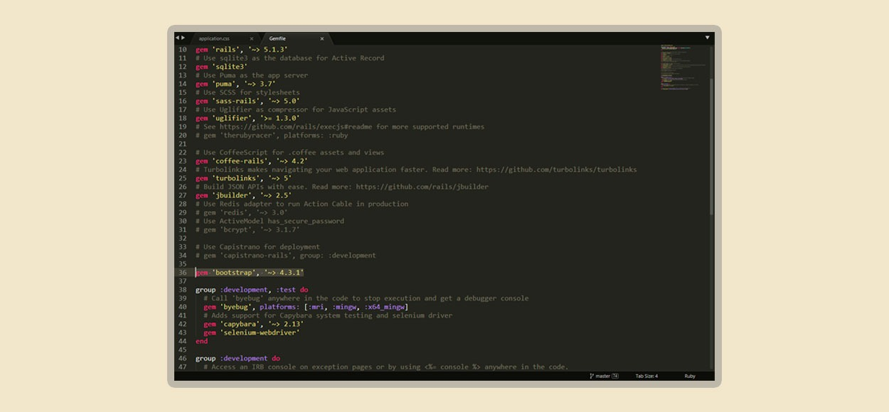 Como integrar Ruby on Rails 5 y Bootstrap 4 | Blog Nube
