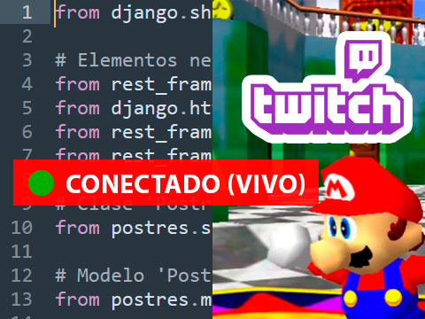 Síguenos en Twitch (Streamings En Vivo)