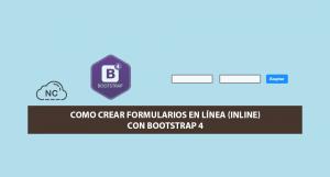 Como Crear Formularios en Línea (Inline) con Bootstrap 4